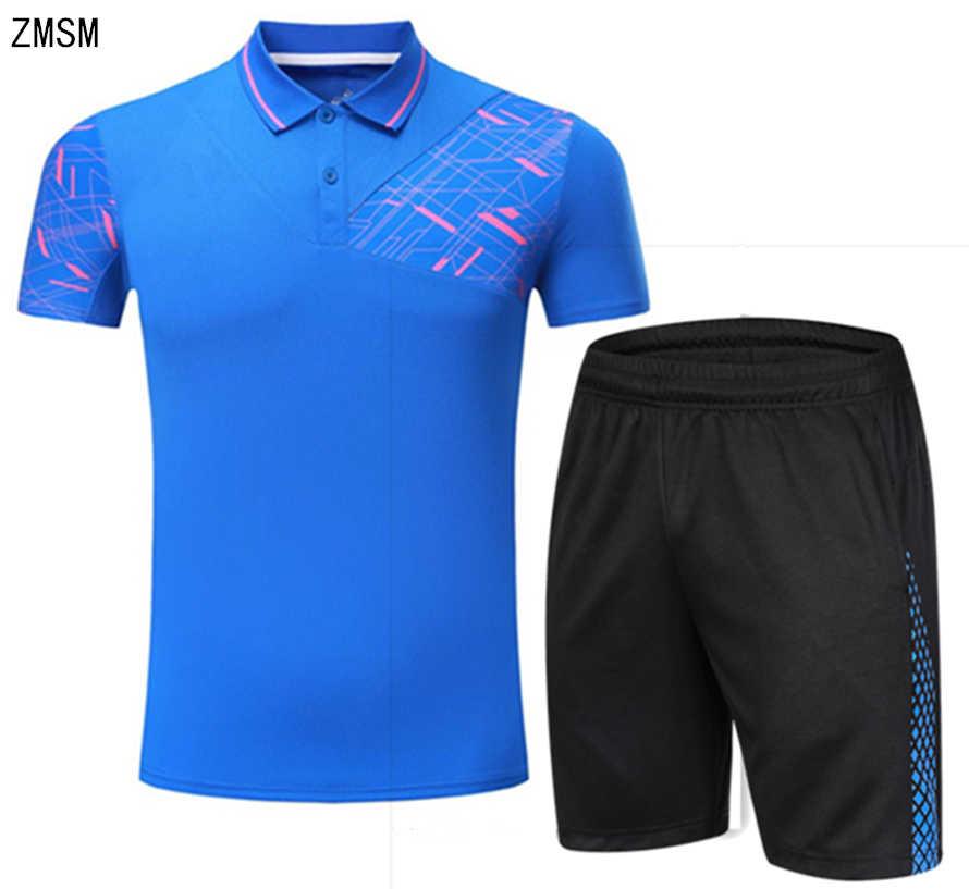 ZMSM Mens Tennis Shirts Perfect quality Breathable Turn-down collar Sports  Badminton Set Table Tennis 6d1993de1