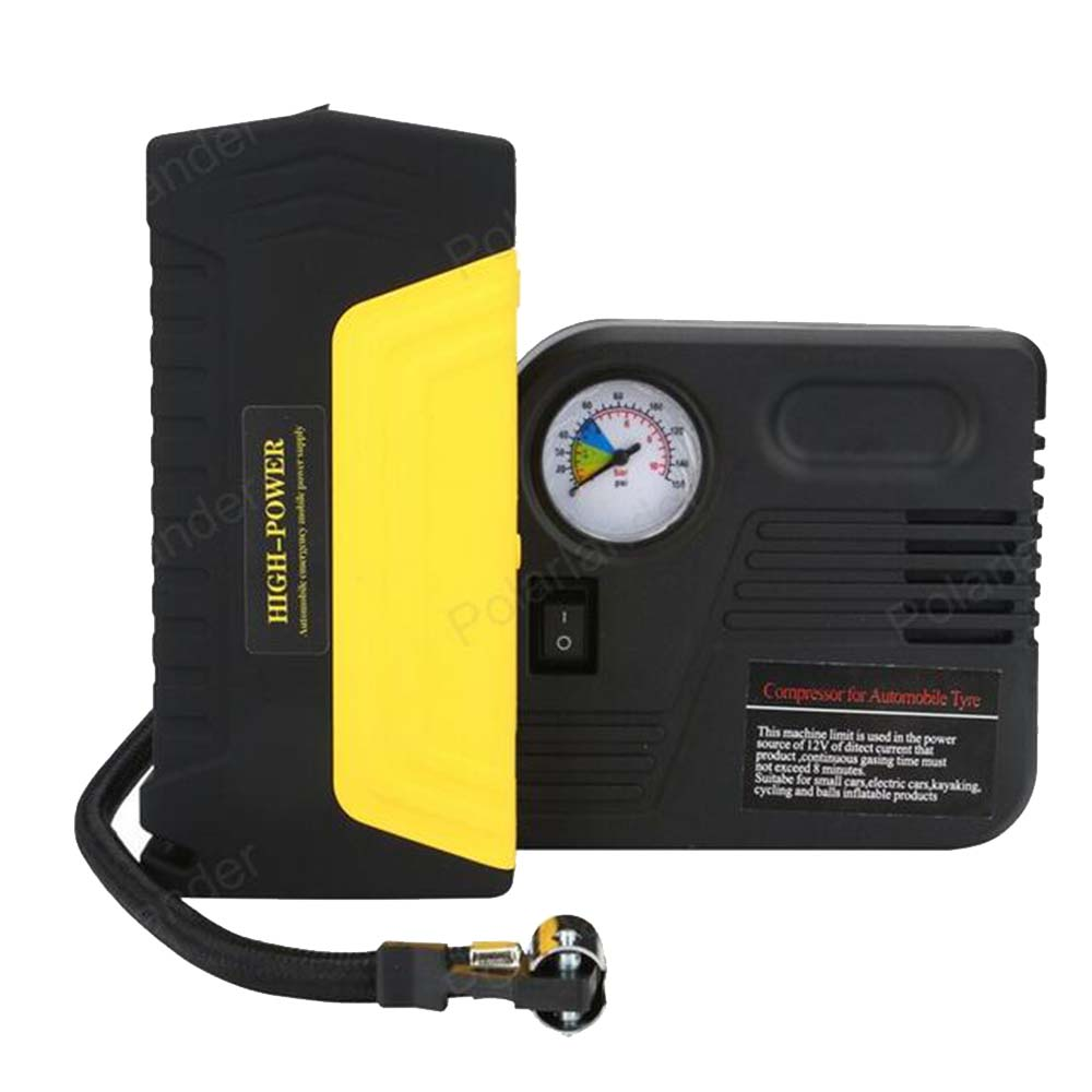 multi-function Petrol car Power Bank Mini Jump Starter with pump Mobile phone laptop battery Charger 12V auto booster