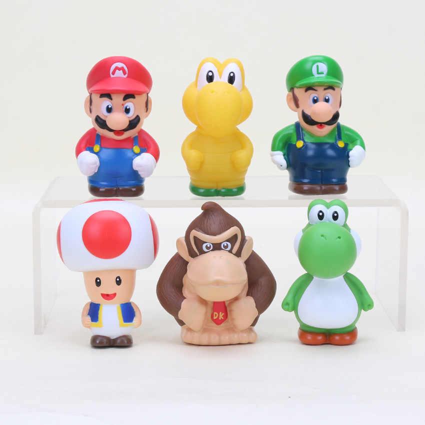 Set Of 6 2 5 Super Mario Bros Koopa Troopa Toad Pvc Action Figure