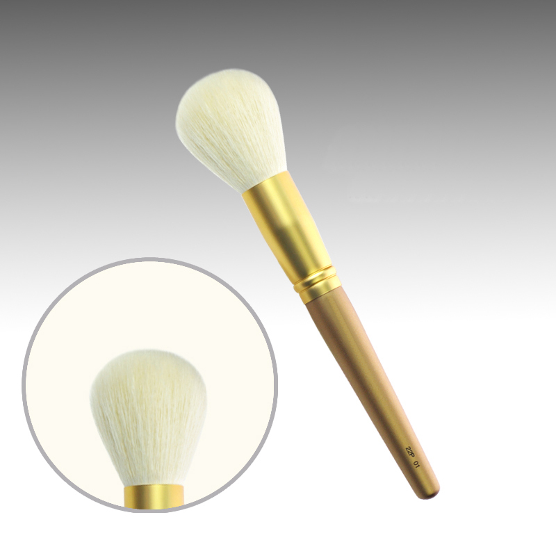 22P01 Professional Makeup Brushes Soft Sokouhou Goat Hair Face Powder Brush Long Golden Handle Cosmetic Tools Make Up Brush professional bullet style cosmetic make up foundation soft brush golden white