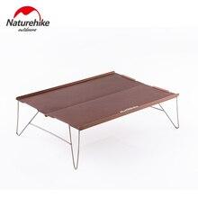 NatureHike, Заводская распродажа, уличный Настольный супер светильник из алюминиевого сплава, портативный складной стол для альпинизма, кемпинга, мини-стол