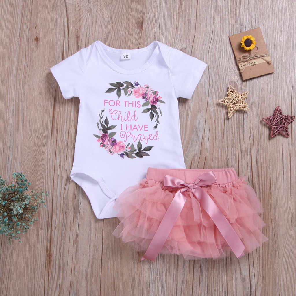 kids clothes girls summer dress Floral Letter baby clothes for girls 0 to 3 months Bodysuit Tutu dresses for baby clothes#G9