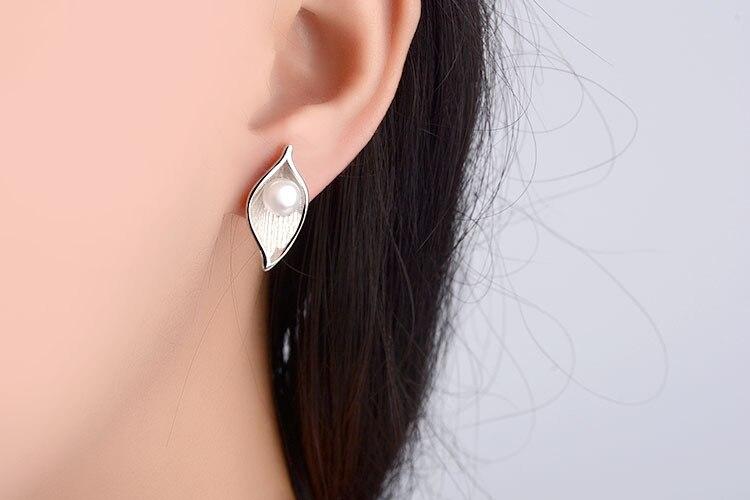 RUOYE divat édesvízi gyöngy fülbevaló fülbevaló fülbevalók - Divatékszer - Fénykép 6