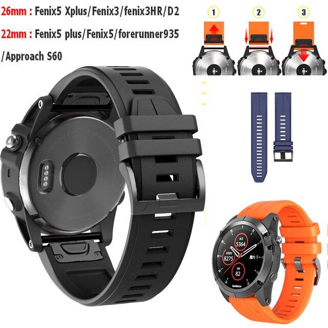 New Comlyo Watchband Strap For Garmin Fenix 5x 5 Plus 3 3hr D2 S60