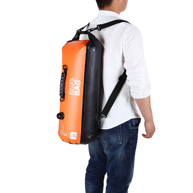 GYKZ 30L Large Capacity Rafting Swimming Waterproof Bag Dry Sack Backpack Outdoor Canoe Kayak Inflatable