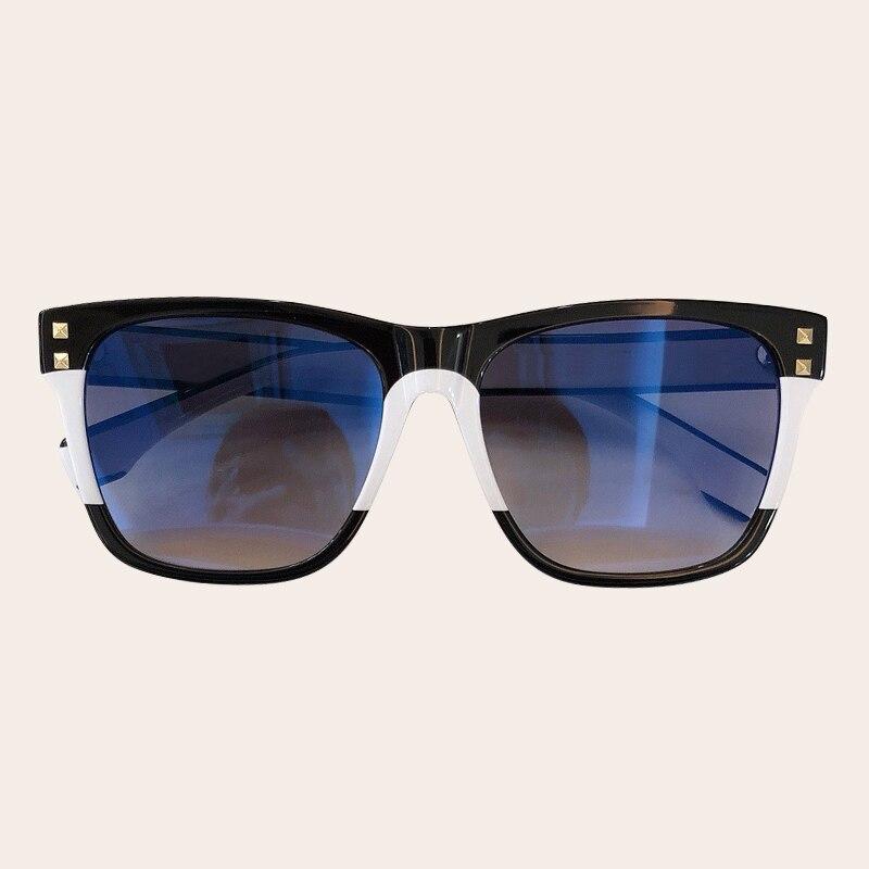 Visnice 2019 большие солнцезащитные очки мужские деревянные зернистые поляризованные линзы ацетат очки черные негабаритные защитные очки ручно... - 5