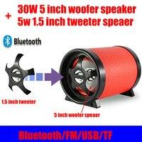 35W High Power Bluetooth 4.0 Speaker 5 Inch Woofer 1.5 Inch Tweeter DC12V/AC110~240V USB TF FM radio With Remote For Home PC Car