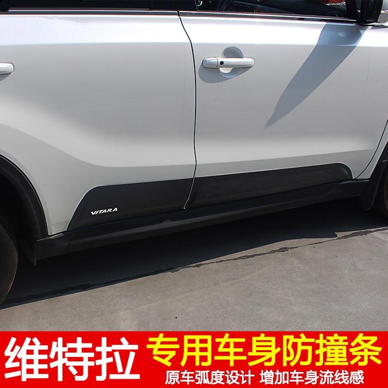 European version of ABS car door trim body trim lamp eyebrow trim auto parts for 2015-2017 Suzuki Vitara Car styling 2016 suzuki vitara 304 stainless steel body trim trim car styling 4pcs