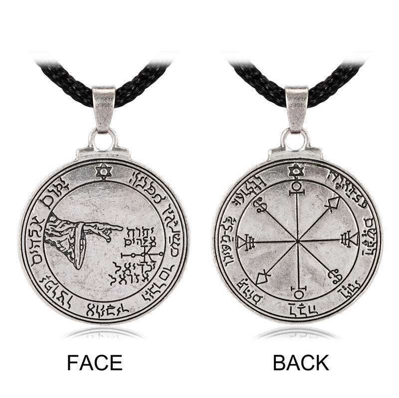 Pentacle of the Moon Talisman Key of Solomon Seal Pendant necklace Hermetic Enochian Kabbalah Pagan Wiccan Jewelry