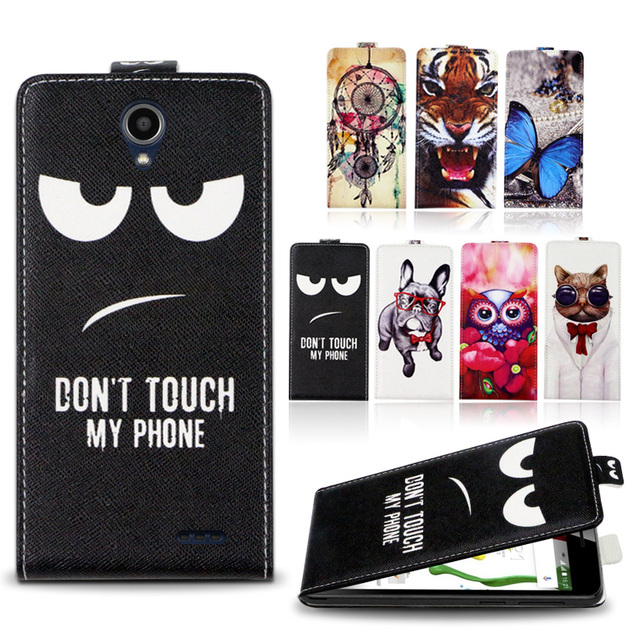 uk availability a3899 27a2e US $3.99 20% OFF|Flip case For ZTE Overture 3 Luxury Cool Printed Cartoon  100% Special PU Leather Phone Case Cover-in Flip Cases from Cellphones & ...