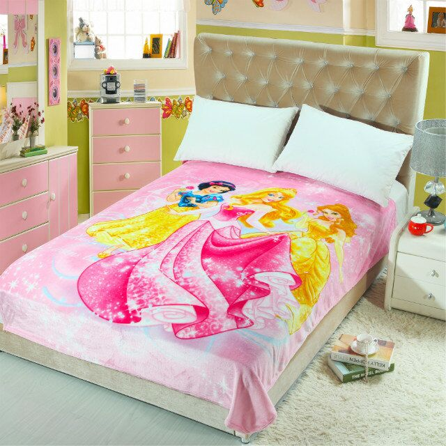 HOT Cartoon Princess 40D Printed Blankets Throws Bedding 4040CM Interesting Kids Blankets And Throws