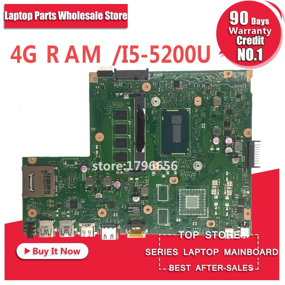 Original X540LA MB._4G/I5-5200U/AS SR23Y For ASUS X540 X540L X540LA X540LJ laptop motherboard USB3.0 DDR3 100%tested mainboard x540lj mb