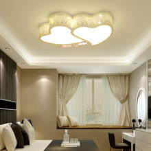 Creative romantic heart-shaped LED ceiling light for bedroom lamp study room lighting boy children ceiling light girl room E27 led ceiling lamp children bedroom light main bedroom light boy girl warm romantic star cartoon shaped lights creative