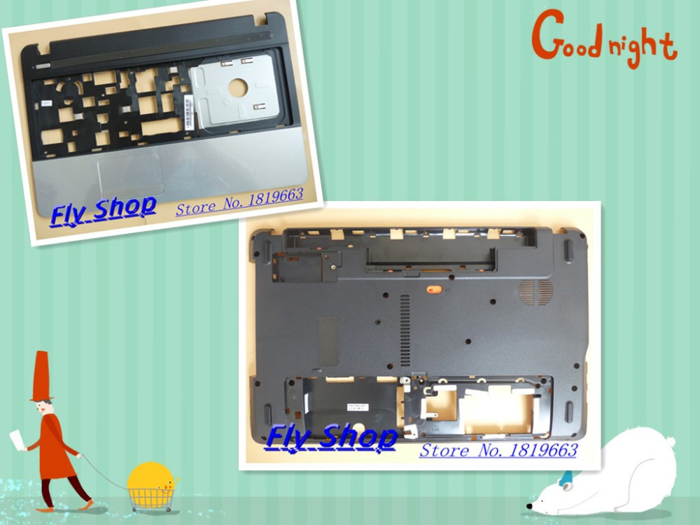 New/Original For Acer Aspire E1-521 E1-531 E1-571 NV55S NV57H Upper Case Palmrest +bottom cover AP0PI000300 AP0NN000100