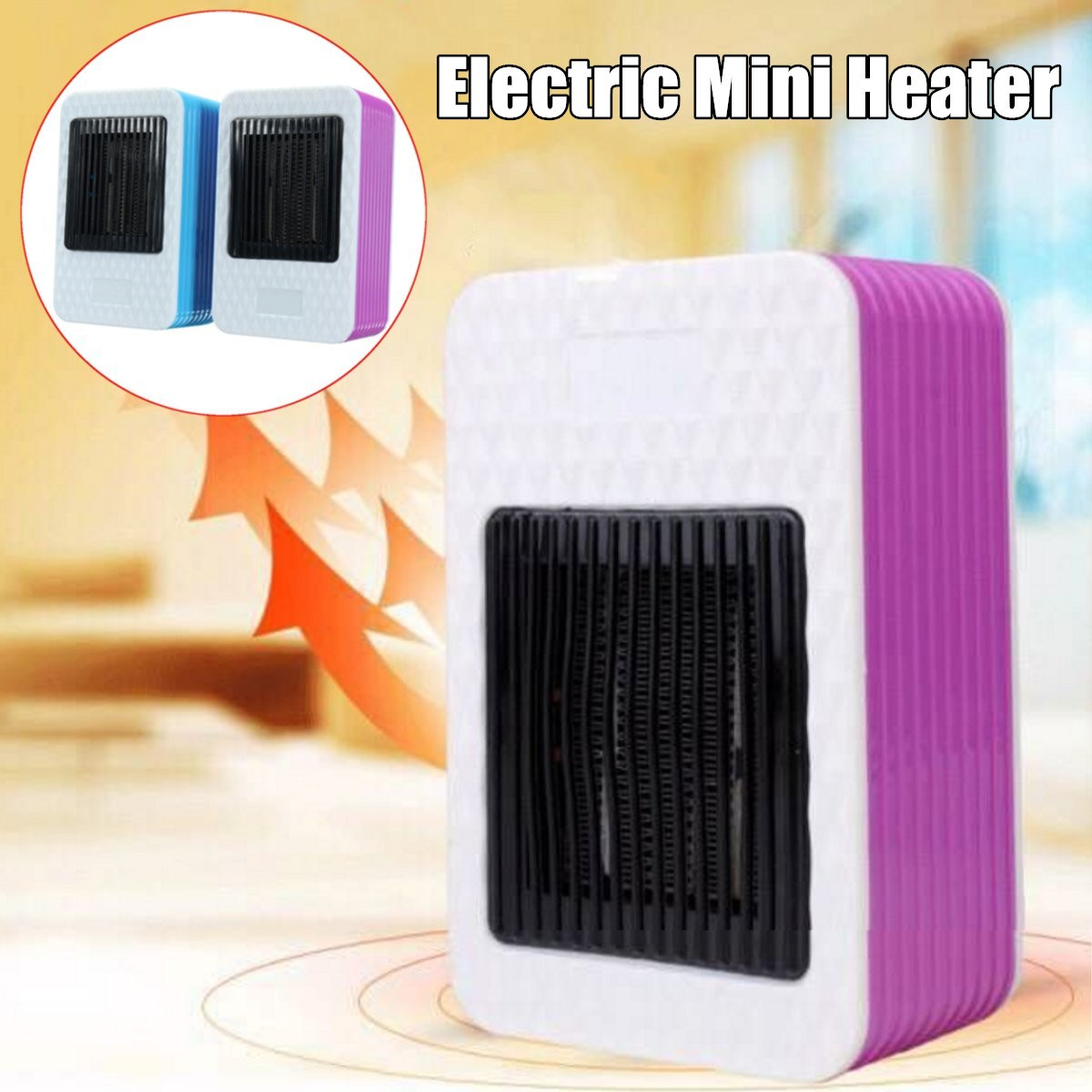 220V AC 500W Mini Electric Air Heater Powerful Warm Blower Portable Fast Heater Fan Stove Radiator Room Warmer 220v 3 gear mini electric warm air blower electric air heater room fan heater cold and warm dual purpose overheat protection
