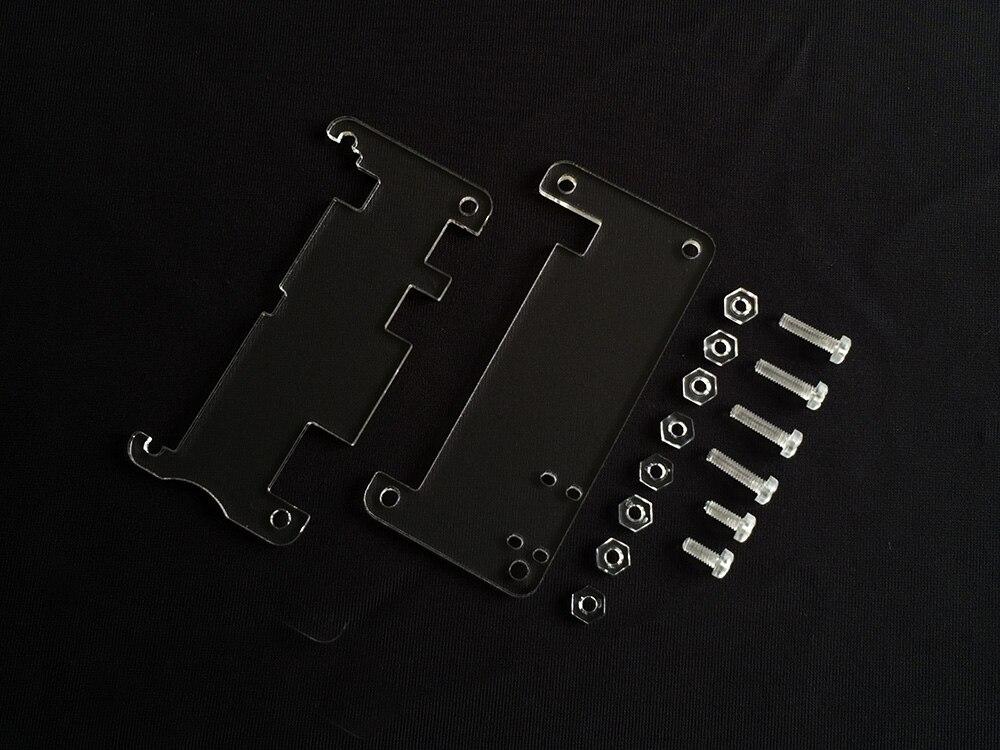 Free Shipping 5pc Original Design High Quality Acrylic Transparent Raspberry Pi Zero Case  With Screws  Raspberry Pi Zero BOX