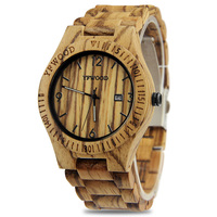 Free Shipping Japan Import VJ32 Quartz Movement Watch Men Women Wood Wristwatch Nature Wood Watch Mens