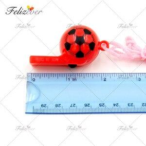 Image 3 - 12 stücke Fußball Fußball Party Favors Pfeifen Pack Sport Party Favor box Partei Geschenke Ostern Korb Füllstoff Preis jungen party