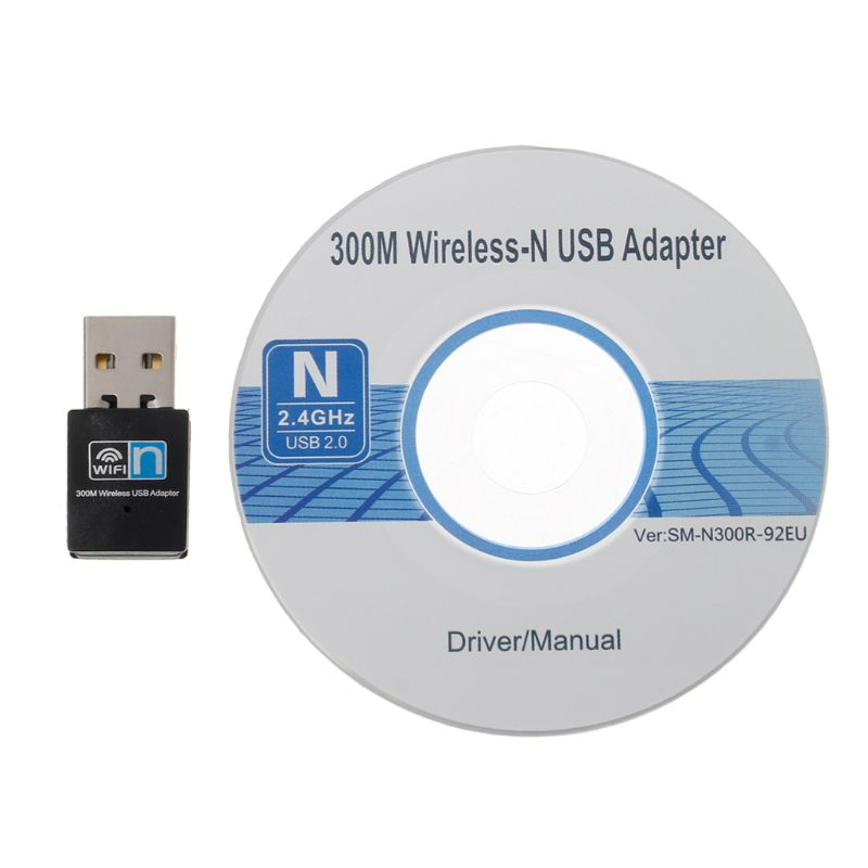 Mini 300Mbps USB RTL8192 Wifi Dongle WiFi Adapter Wireless Receiver Network Card Antenna 802.11 N/g/b Wi Fi LAN Adapter For Desk