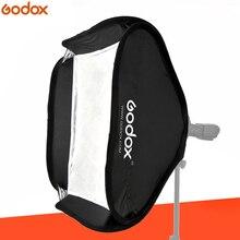 Godox softbox 80x80 cm difusor refletor para speedlite flash luz profissional photo studio câmera flash caber bowens elinchrom