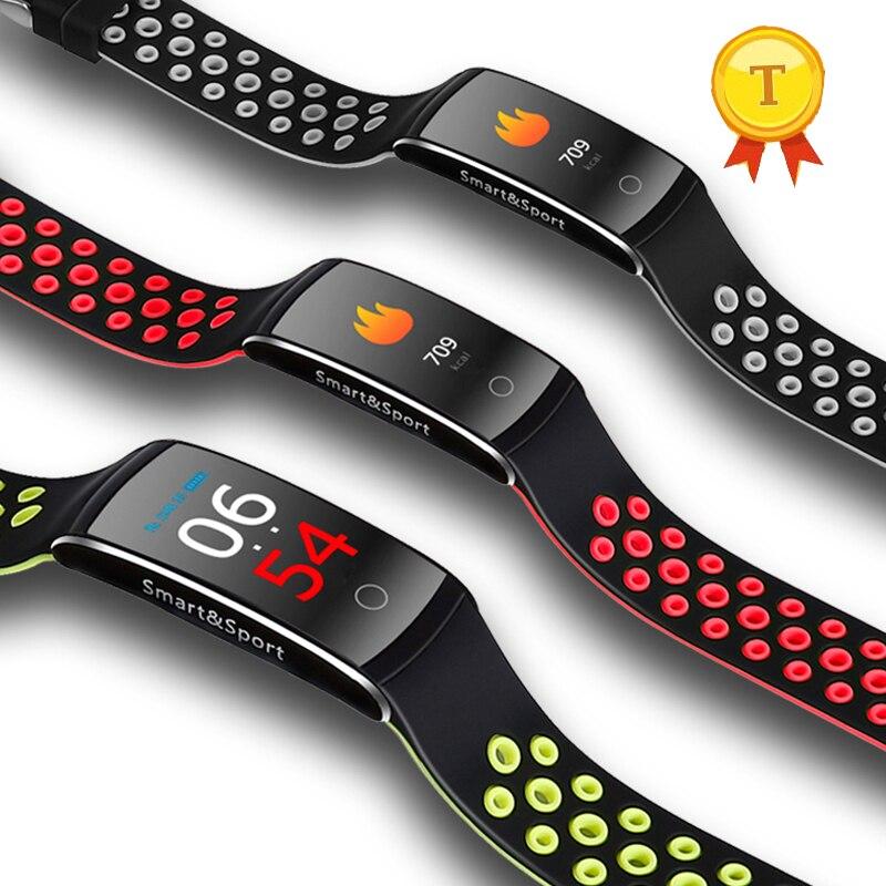 2018 de alta calidad Popular Smart banda de frecuencia cardíaca Monitor de presión arterial salud producto BT4.0 fitness reloj pulsera