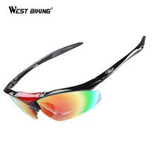 WEST BIKING Sports Windproof Cycling Sunglasses UV400 Protection Bicicleta Polarized Goggles MTB Bicycle Road Bike Glasses