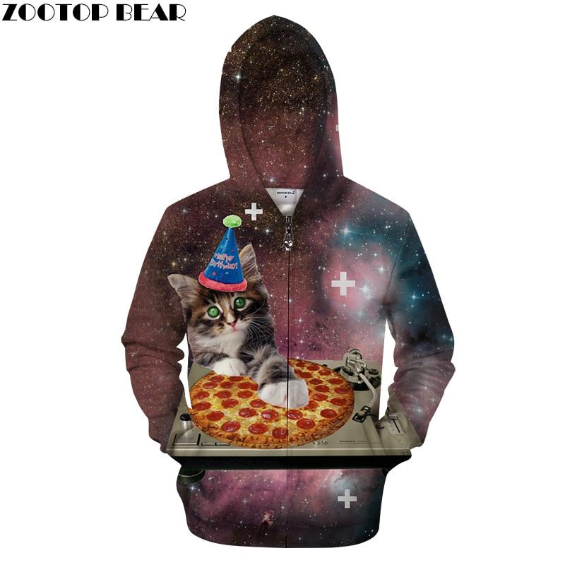 Zipper 3d Hoodies Men Women Zip Hooded Sweatshirts Brand Hoodie Drop Ship Plus Size Tracksuits Novelty Streetwear ZOOTOP BEAR