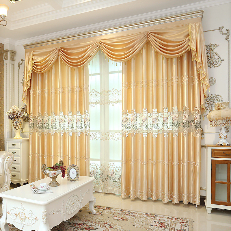 20 Best Curtain Ideas For Living Room 2017: European Quality Water Soluble Embroidered Curtain Fabric
