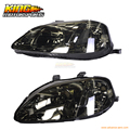 For 1999-2000 Honda Civic JDM Headlights Head Lamps Smoke In Pair USA Domestic Free Shipping