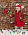 2 T-4 T Da Criança Natal Chapéu Chapéu Da Menina Da Criança do Menino Da Criança chapéu Da Criança Chapéu de Papai Noel Santa Foto Prop Vermelho Branco Candy Cane