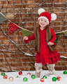 2 T-4 T de Navidad Niño Sombrero Del Niño Del Sombrero de La Muchacha Del Muchacho Del Niño sombrero Del Niño Del Sombrero de Santa Santa Foto Prop Rojo Blanco Del Bastón De Caramelo