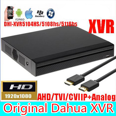 ahua XVR video recorder XVR5104HS XVR5108HS XVR5116HS 4ch 8ch 16ch 1080P Support HDCVI/ AHD/TVI/CVBS/IP Camera dahua xvr video recorder xvr5408l xvr5416l xvr5432l 8ch 16ch 32ch 1080p support hdcvi ahd tvi cvbs ip video inputs