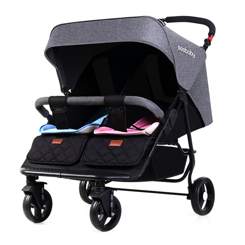 Twins baby strollers can sit reclining folding double twin stroller BB stroller