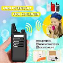 Kids Walkie Talkies 16-Channel Walkie talkie camping Mountaineering gift for child 3-5km range UA plug(China)