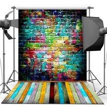 150X210CM 사진 스튜디오 녹색 화면 크로마 키 배경 사진 스튜디오에 대 한 폴리 에스터 배경 어두운 벽돌 YU004