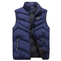 Brand 4XL Mens Jacket Sleeveless Vest Winter Fashion Casual Coats Male Cotton Padded Men's Vest Men Thicken Waistcoat AF1218