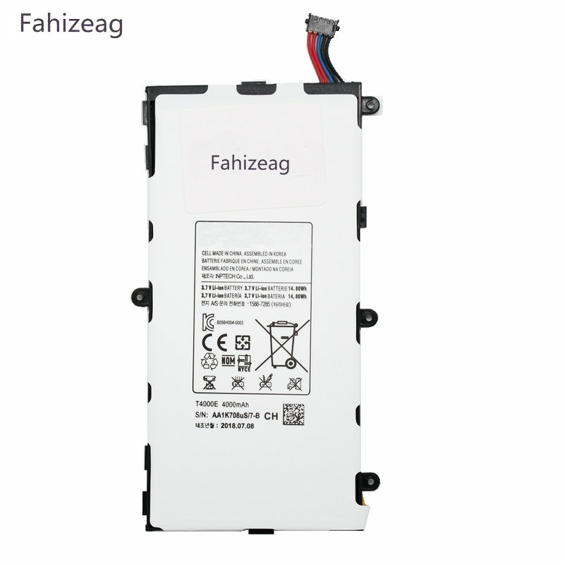 Fahizeag <font><b>T4000E</b></font> 4000mAh Replacement Battery For Samsung Galaxy Tab Tablet 3 7.0 T211 P3210 P3200 T210 T215 T210R SM-T210R T2105 image