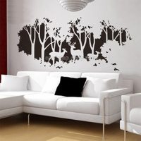 133X58CM Deer in Forest Home Decoration Wall Paper & Art viny removable Sticker