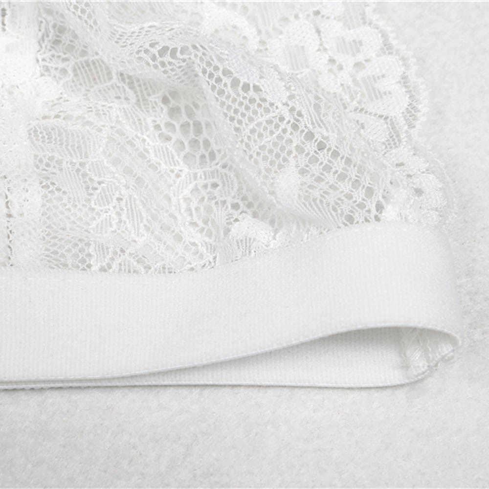 fc95f4153e Sexy lace bra set women white floral push up transparent bralette thongs  panties lingerie set jpg · Download Image