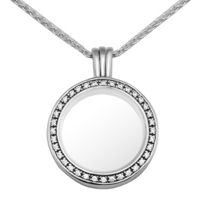 Image 4 - Medium FANDOLA floating locket Pendant Necklace 100% 925 Sterling Silver Jewelry Free Shipping