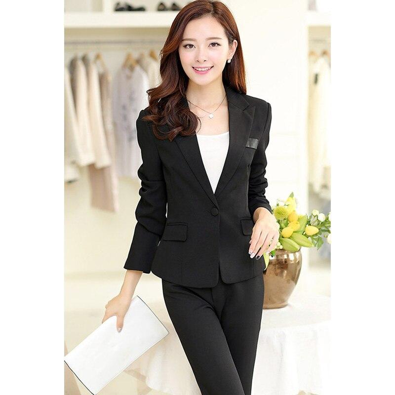 Лидер продаж Mujer Формальные индивидуальный заказ Для женщин Зимняя мода feminino женские офисные work Uniform Профессиональный одежда