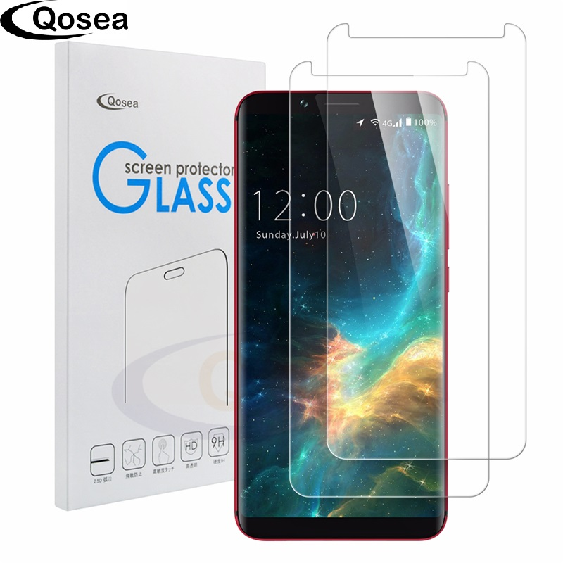 Qosea (2 PACK) For Umidigi S2 Lite Tempered Glass Ultra-thin 9H Protective Film Explosion-proof For Umi S2 Lite Screen Protector