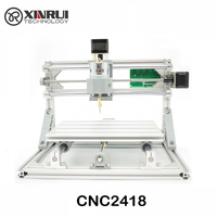 2016 New GRBL CNC Machine 3 Axis Pcb Milling Machine 2418 Diy Wood Carving Mini Engraving