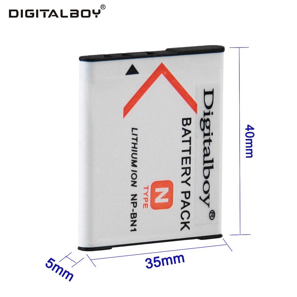 DigitalBoy Brand New 1PCS NP-BN1 NP BN1 NPBN1 Li-ion Camera Battery For Sony Cyber-Shot DSC S750 DSC S780 W630 TX5 W310 T99 z1 3 7v 1450mah np bx1 compatible li ion camera battery for sony