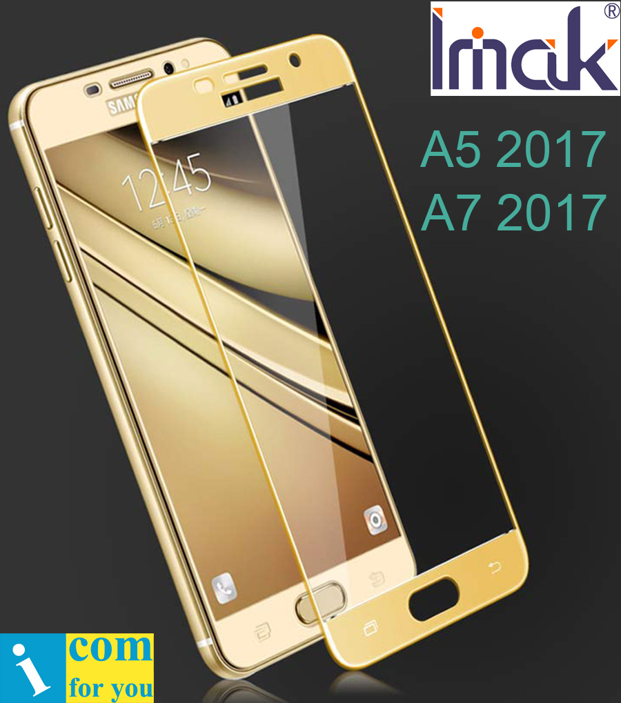 imak Full Screen Cover Protective Tempered Glass For Samsung Galaxy A3 A5 A7 2017 A320F A520F A720F 2.5D Curved edge oleophobic