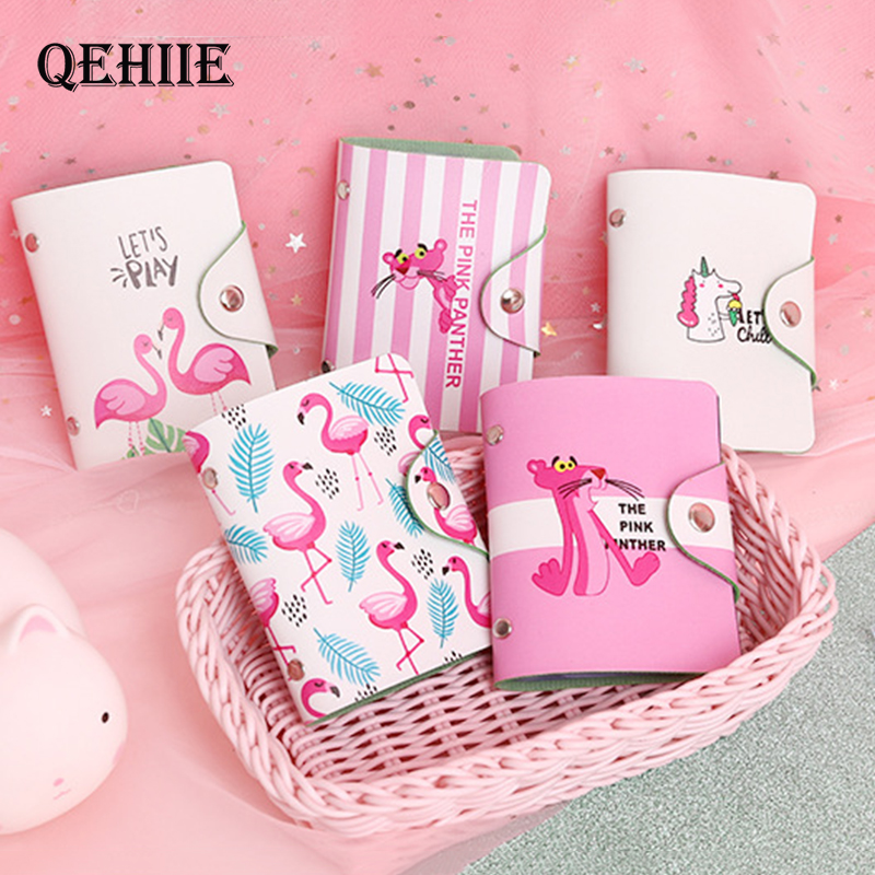 QEHIIE South Korea Cartoon Bank Card Package Cute Student Holder ID Card.Credit Card. Business Card Holder Girl Travel Essential