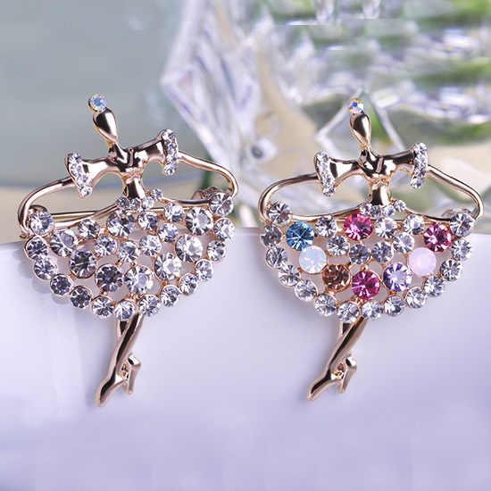 Busana wanita 2015 kristal bros Bouquet untuk pernikahan merek perhiasan balet hadiah Broches pin jilbab Relogio pesta terbaik Bijoux