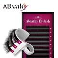 Abnathy Lash nueva design1 Caso Todo el Tamaño C D rizo las pestañas extensiones de pestañas postizas de visón negro falso falso pestañas curva