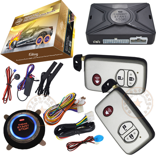 auto car alarm system passive keyless entry with central lock or unlock long distance remote