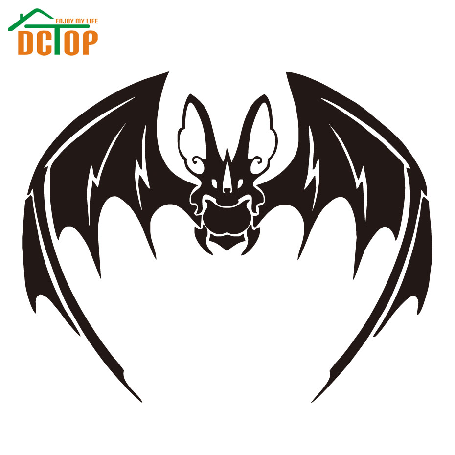 Black Bat Party Wall Art Decals Car Styling Window Auto
